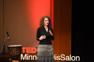 Ariella speaking at TEDx Minneapolis